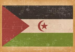 Ancien drapeau grunge du Sahara occidental