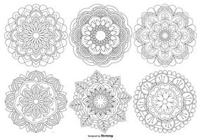 Belle collection de formes de mandala