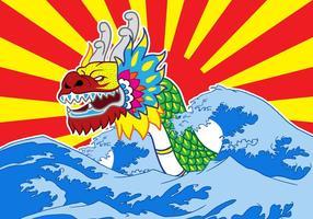 Vector do Festival do Barco do Dragão Chinês
