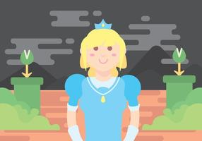 Princess in Blue Dress Vector