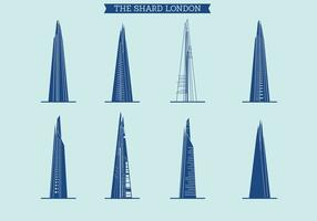 Il set vettoriale di Shard of London