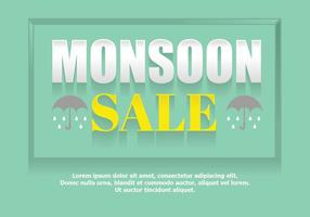 Monsoon sale poster vector