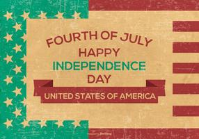 Retro Grunge Independence Day Background