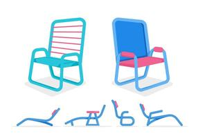 Gratis Unieke Lawn Chair Vectoren