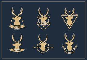 Caribou logo free vector