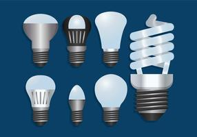LED lights vector set