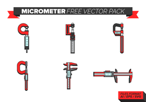Mikrometer Gratis Vector Pack