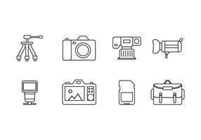 Photography tool icons vector
