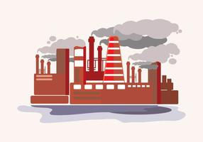 Smoke Stack Flat Illustration vector