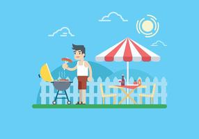 Sommer Barbecue Illustration