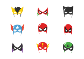Máscaras do super-herói