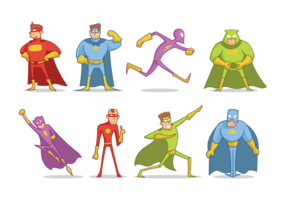 Super Heros Cartoon Vector