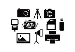 Gratis fotografi ikon vektor