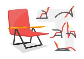 Gratis Unika Lawn Chair Vectors