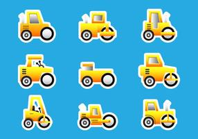 Road Roller Bulldozer Stickers