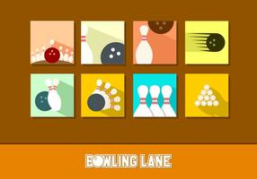 Flat Icon Bowling Free Vectors