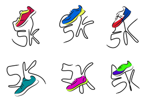 5K zapatos corriendo vector