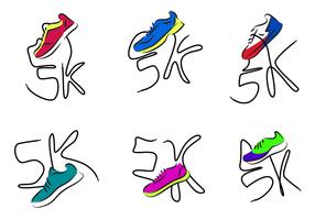 5k sapatos correndo vetor