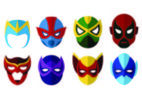 Vector Of Super Hero Masks
