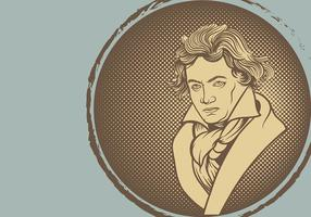 Beethoven Illustration Vektor Hintergrund