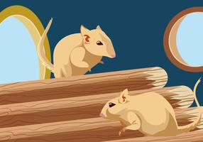Gerbil Inside Pet House Vector
