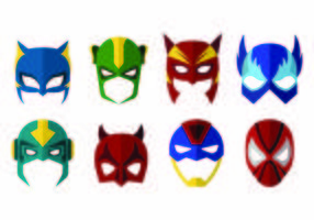 Vector de máscaras do super-herói