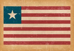 Grunge Flag of Liberia vector