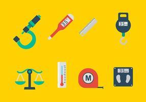 Vettore delle icone degli strumenti di misurazione