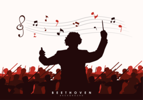 Illustration Vectorielle de Beethoven