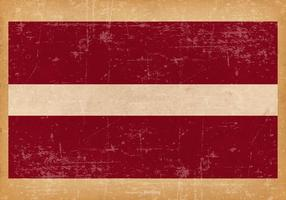 Grunge Flagge von Lettland