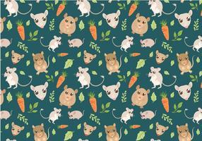 Vetores de padrões gratuitos para animais de estimação pequenos