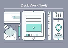 Free Linear Workspace Objekte Hintergrund