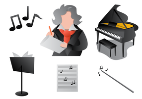 Modern Style Of Beethoven Vectord