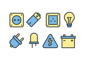 Electric Accessories Icon Pack vector