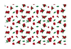 Ditsy rote Blume Free Vector
