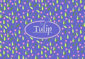 Tulip Disty patrón vector libre