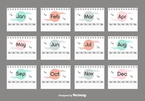 Desktop Calendar Set