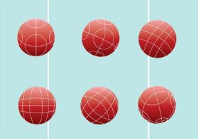 Bocce ball vector pack