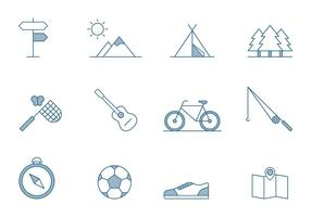 Outdoor Activities Icons vector