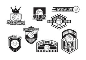 Bocce Badges Vector