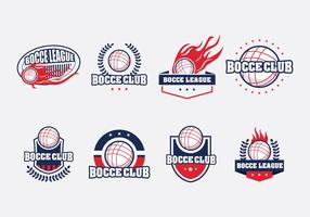Bocce Badge Set vector