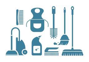 Limpieza de iconos de vector de la herramienta
