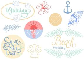 Vectores libres de la boda de la playa