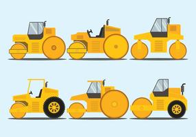 Road Roller Vektor Set