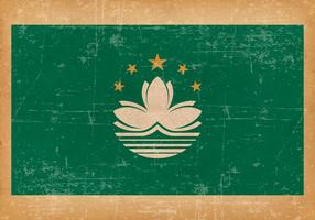 Grunge Flag of Macau