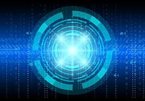 Tech-Vektor-Matrix-Hintergrund