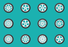 Vectores de las ruedas de aleación