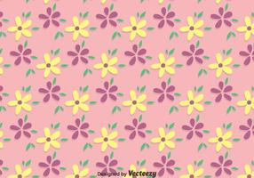Pink Ditsy Floral Pattern Vector