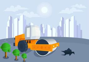 Construction In Future City Vector