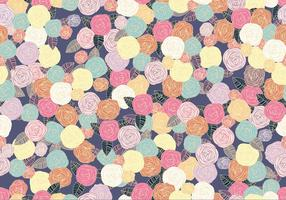 Ditsy Seamless Peony Pattern Vector